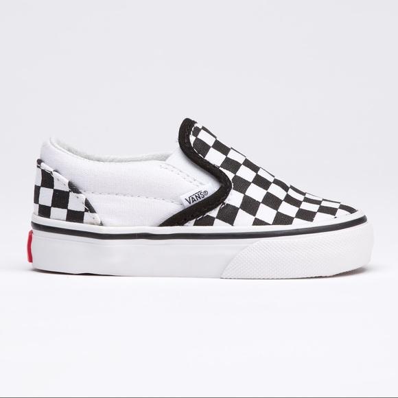 vans toddlers checkerboard slip-on